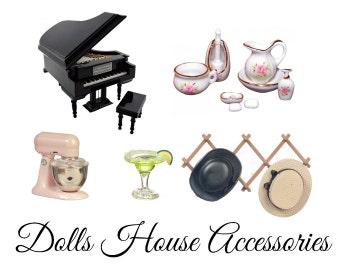 Melody Jane Dolls House Miniature 1:24 Scale Kitchen Accessory Chrome Saucepan Pan Set