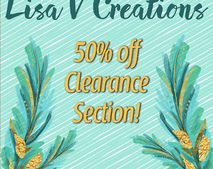 50% OFF CLEARANCE!!!