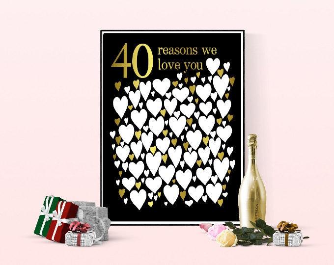Birthday Gifts - 40th