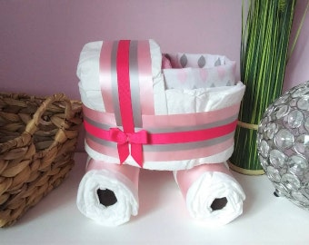 GIRLS diapers cakes
