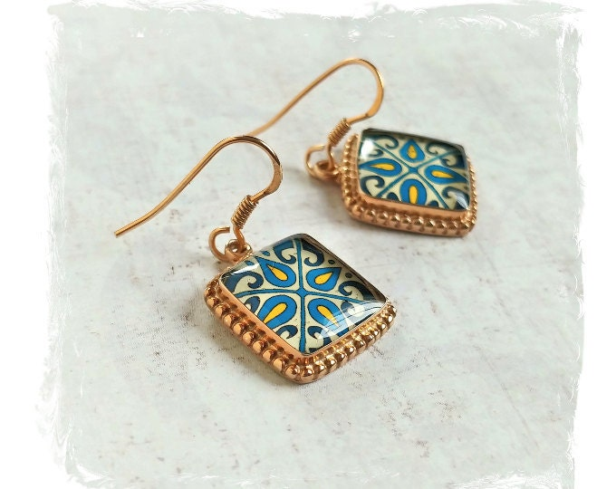 Catalina Tile Earrings