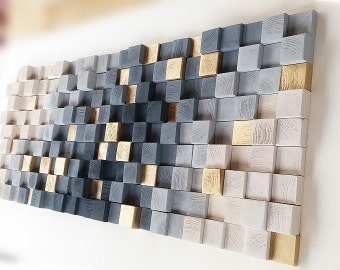 GRAY Wood wall art