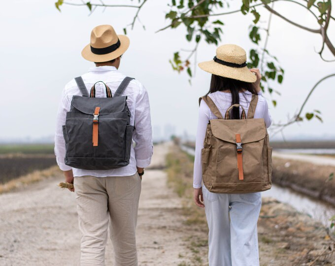 Waxed Canvas backpack108