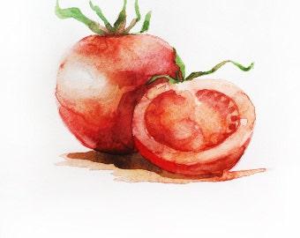 Watercolor Vegetables