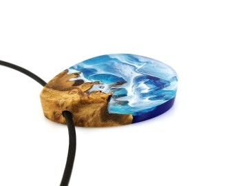 Wood Resin Necklaces