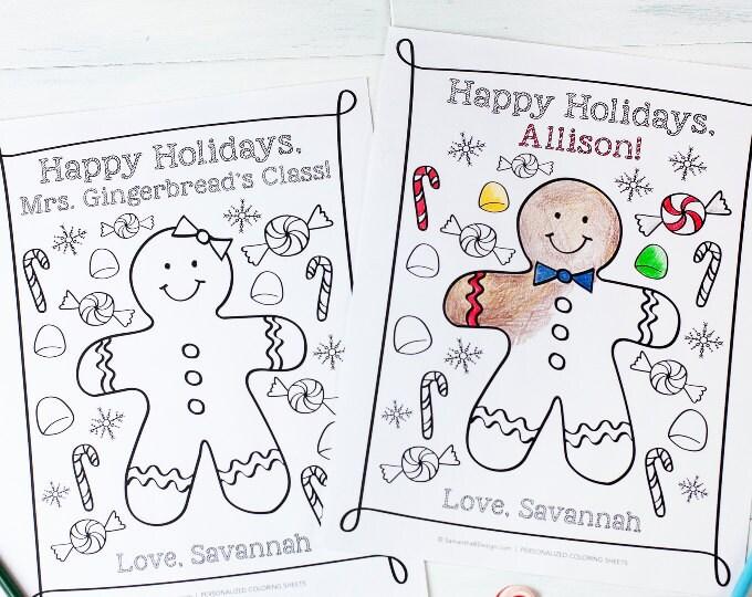 Holiday Coloring Sheets