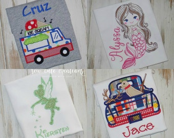 Boy and Girl shirts
