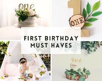 First Birthday Decor
