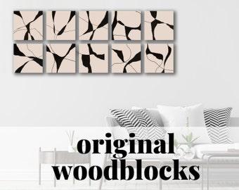 ORIGINAL ∎ wood blocks