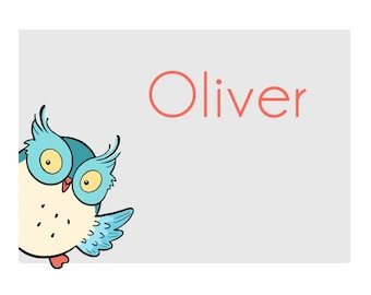 OWL STICKERS - OLIVER