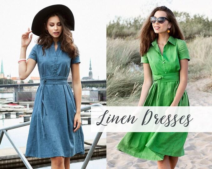 Linen Dresses & Tops