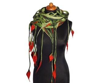 Openwork felted shawls