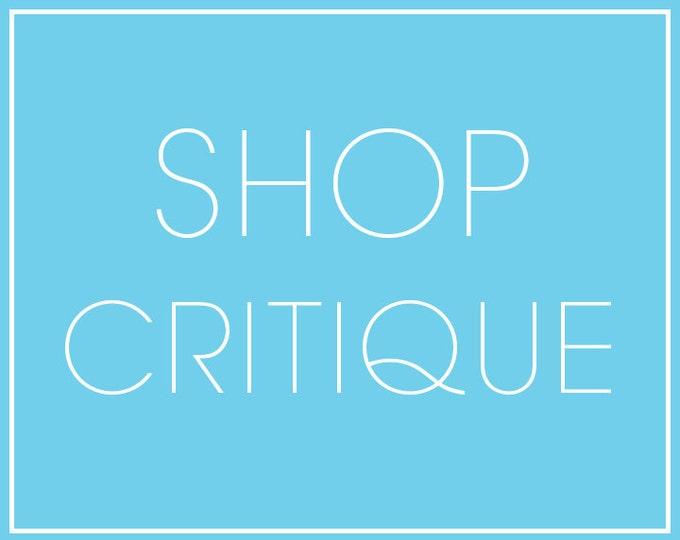 Shop Critique & Coaching