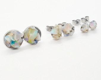 fire opal pieces