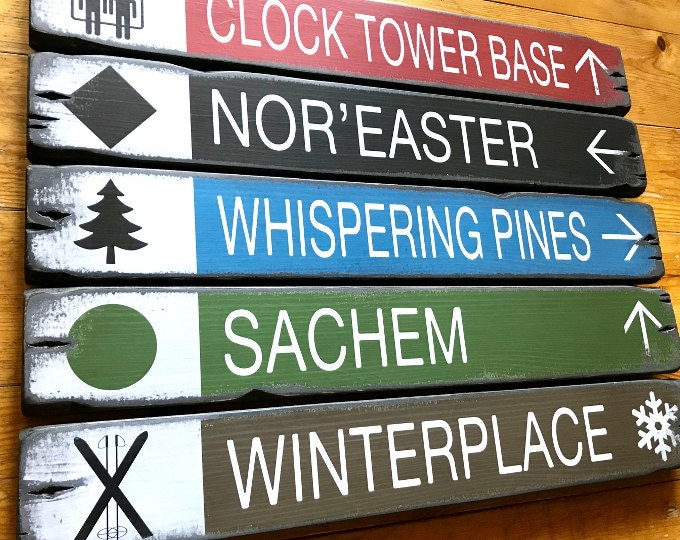 Personalized Trail Signs