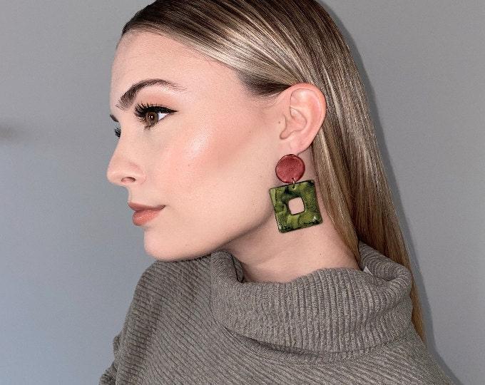 Painted Clay Earrings