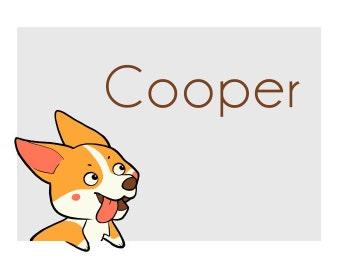 CORGI STICKERS - COOPER