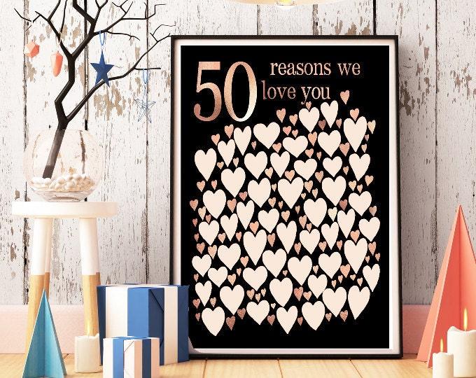 Birthday Gifts - 50th
