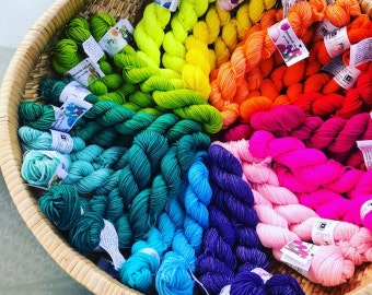 hand dyed MINI skeins