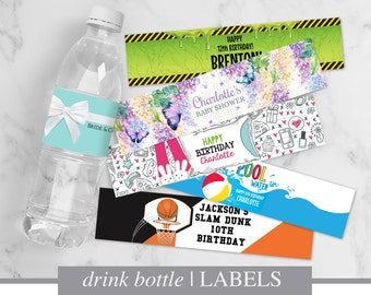 DRINK BOTTLE LABELS