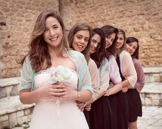 Bridesmaid shawls
