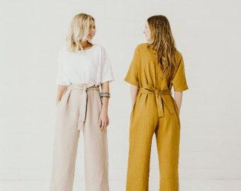 Linen jumpsuits