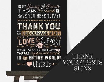 Grad Thank You Signs