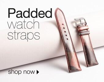 Padded watch strap