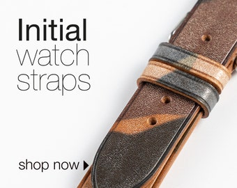 Initial watch strap