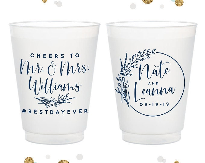 Wedding Frosted Cups