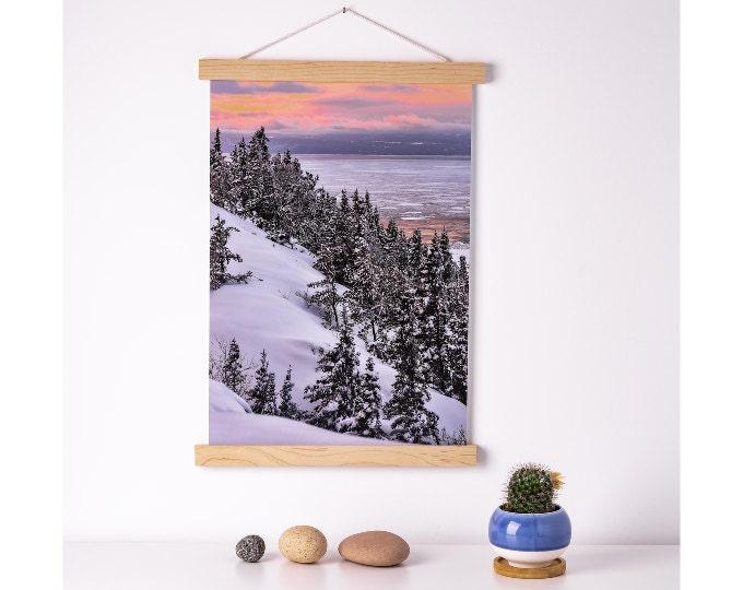 Affiche fleuve d'hiver