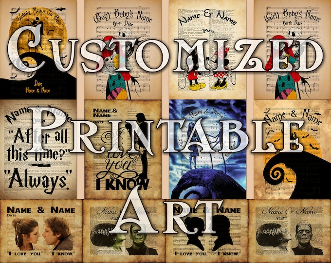 Custom Printable Art