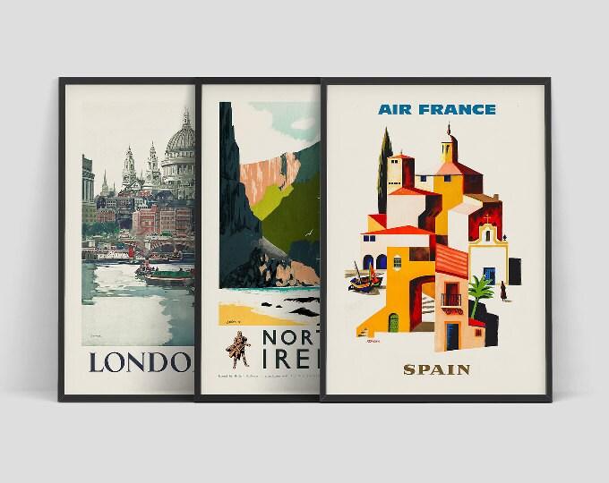 Retro travel posters