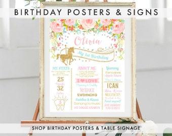 BIRTHDAY MILESTONE SIGNS