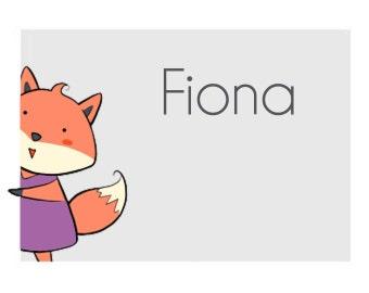 FOX STICKERS - FIONA