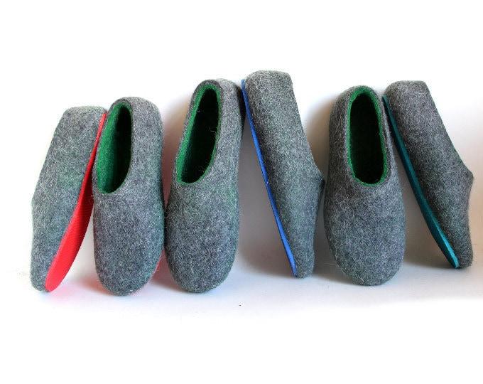 MEN felt house shoes