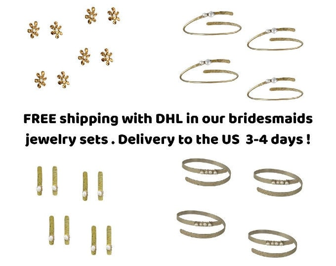 Bridesmaids jewelry sets