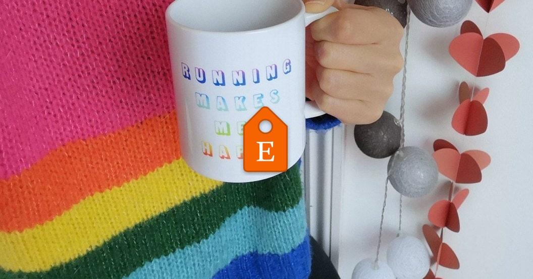 Running makes my happy Mug. Running Gifts. Running. Running | Etsy