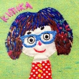 原公香の刺繍ミクストメディア作品 Etsy の Kimikahara より