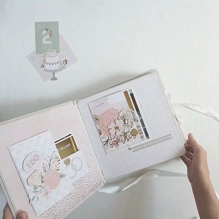 Personalised Scrapbook Every Love Story is Beautiful ADD OWN PHOTO Photo Album
